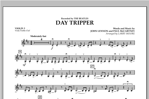 Day Tripper - Violin 3 (Viola Treble Clef) Sheet Music