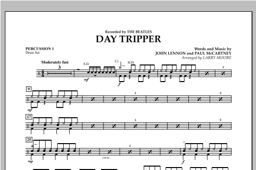 Day Tripper - Percussion 1 Sheet Music