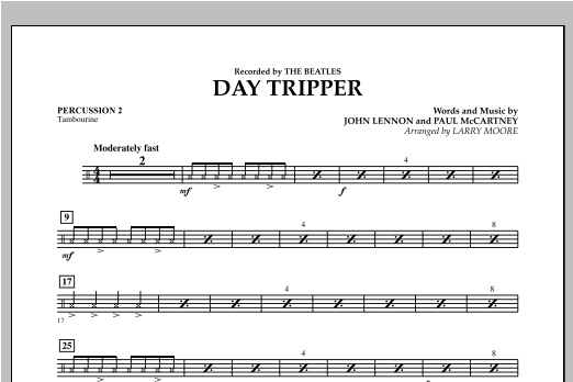 Day Tripper - Percussion 2 Sheet Music