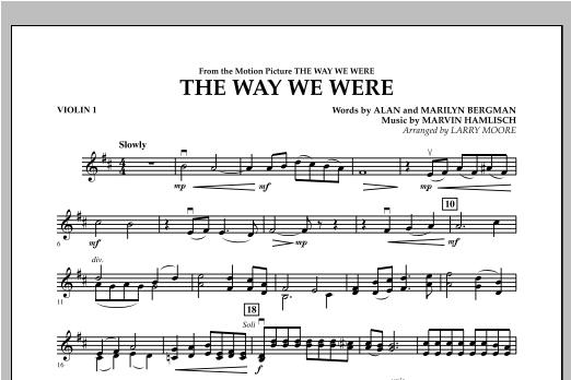 The Way We Were - Violin 1 Sheet Music