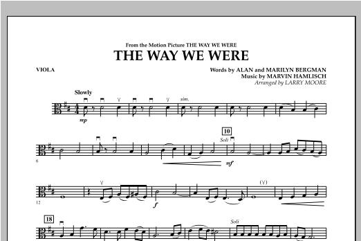 The Way We Were - Viola Sheet Music