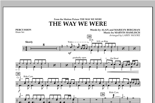 The Way We Were - Percussion Sheet Music