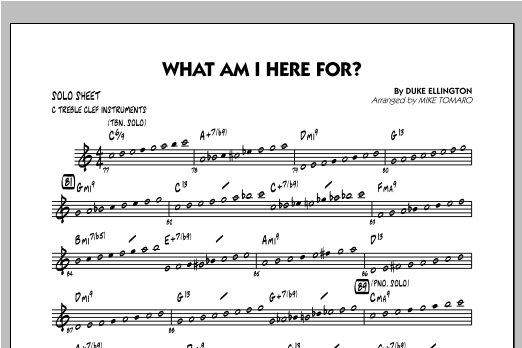 What Am I Here For? - C Solo Sheet Sheet Music