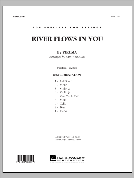 River Flows In You (COMPLETE) sheet music for orchestra by Larry Moore and Yiruma. Score Image Preview.