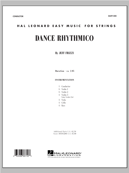Dance Rhythmico (COMPLETE) sheet music for orchestra by Jeff Frizzi. Score Image Preview.