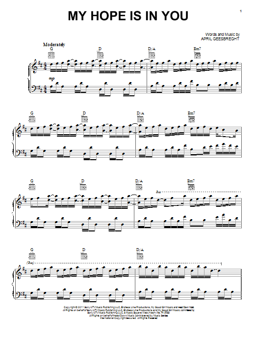 My Hope Is In You Sheet Music