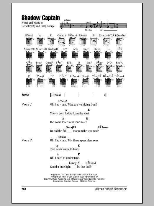 Shadow Captain Sheet Music
