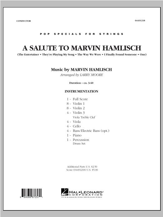 A Salute To Marvin Hamlisch - Conductor Score (Full Score) Sheet Music