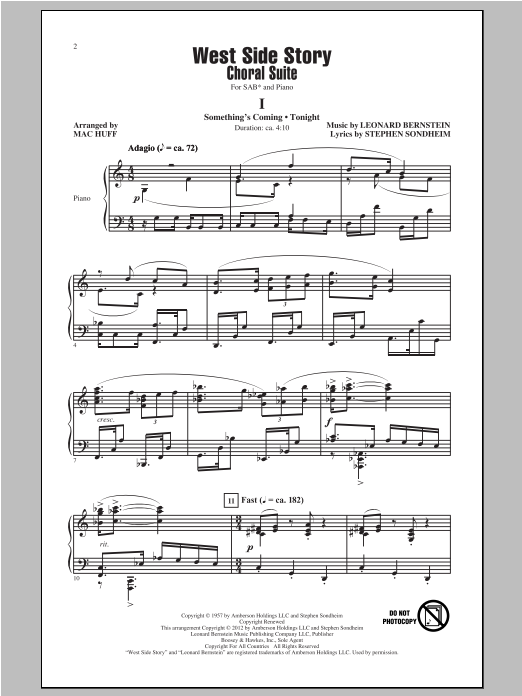 West Side Story (Choral Suite) Sheet Music