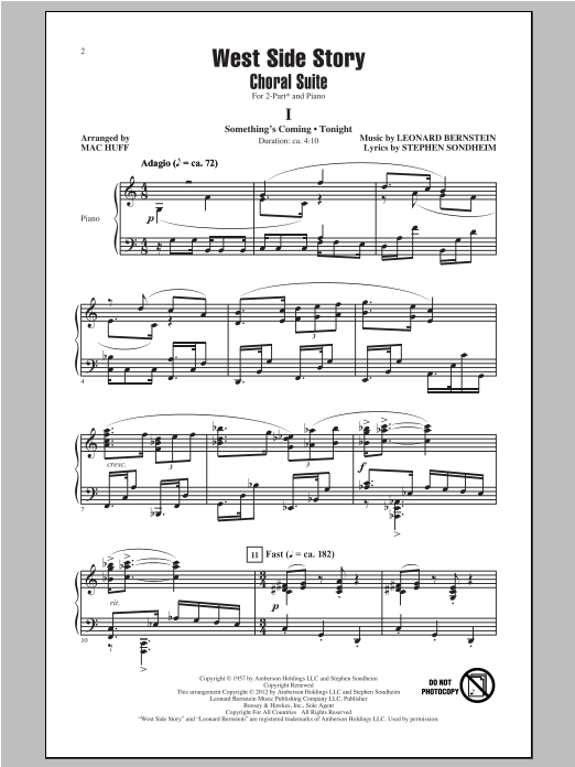 West Side Story (Choral Suite) (arr. Mac Huff) (2-Part Choir)