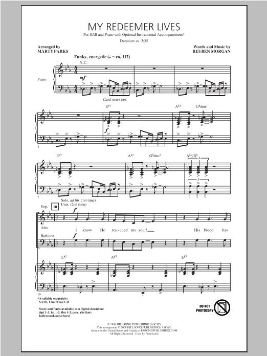 My Redeemer Lives (SAB Choir)