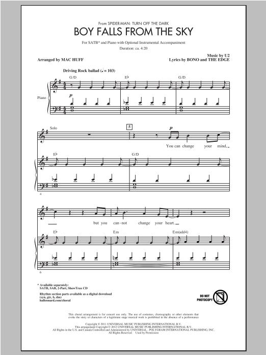 Boy Falls From The Sky (SATB Choir)