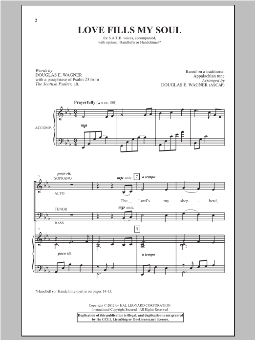 Love Fills My Soul Sheet Music