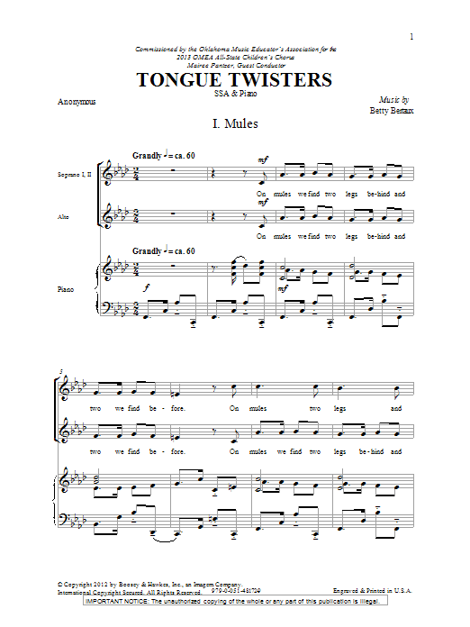 Tongue Twisters (SSA Choir)