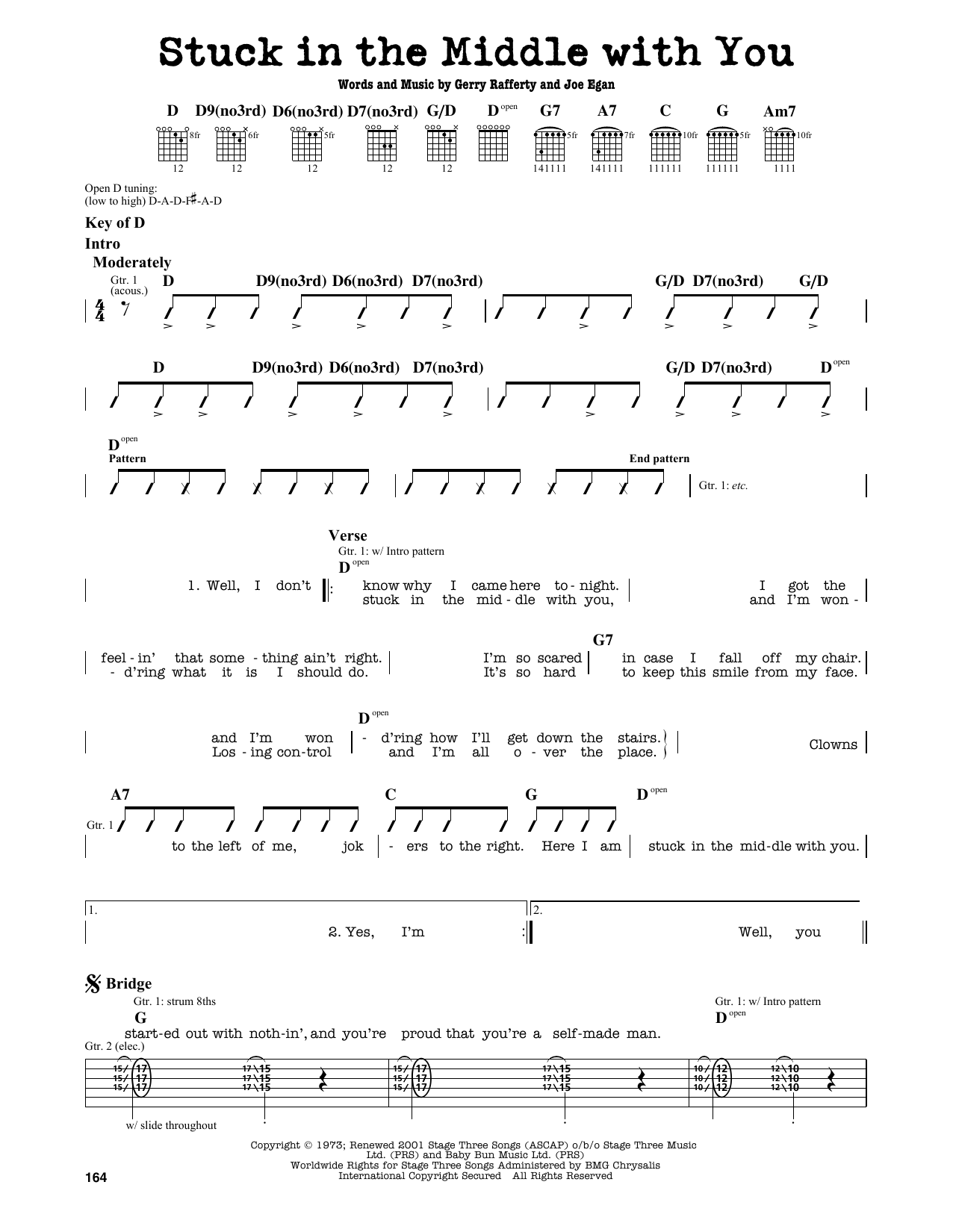 Partition autre Stuck In The Middle With You de Stealers Wheel - Tablature Guitare Lead
