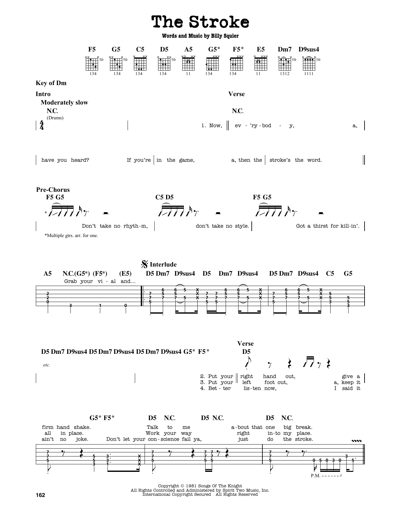The Stroke Sheet Music