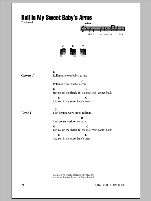 Roll In My Sweet Baby's Arms Sheet Music