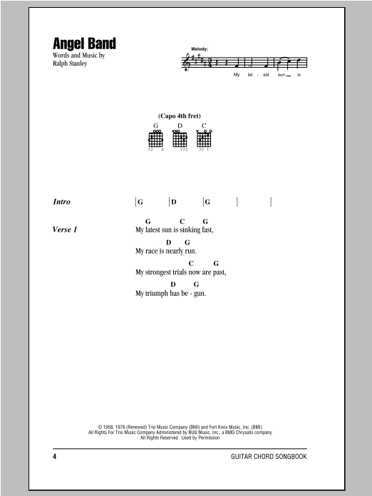 Angel Band Sheet Music