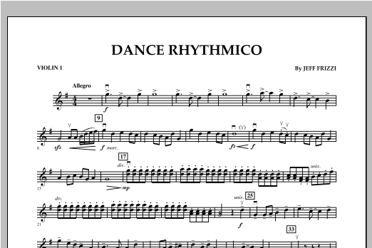 Dance Rhythmico - Violin 1 Sheet Music