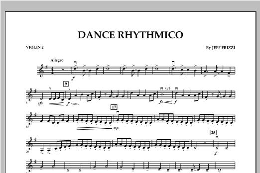 Dance Rhythmico - Violin 2 Sheet Music