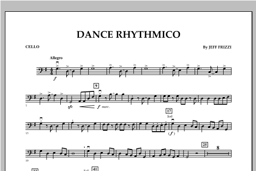 Dance Rhythmico - Cello Sheet Music