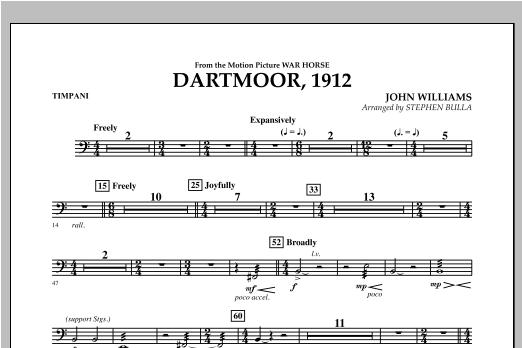 Dartmoor, 1912 (from War Horse) - Timpani (Orchestra)