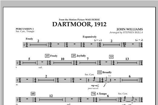 Dartmoor, 1912 (from War Horse) - Percussion 1 Sheet Music