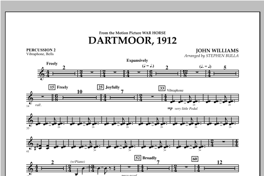 Dartmoor, 1912 (from War Horse) - Percussion 2 Sheet Music