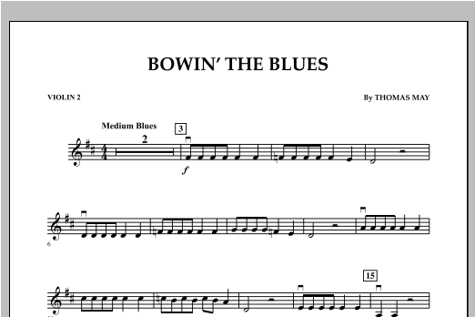 Bowin' The Blues - Violin 2 Sheet Music