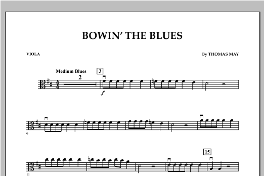 Bowin' The Blues - Viola Sheet Music