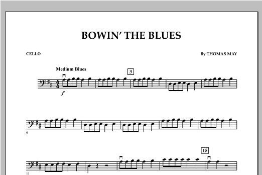 Bowin' The Blues - Cello Sheet Music