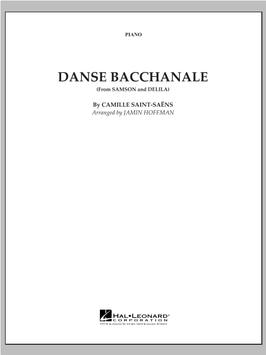 Danse Bacchanale (from Samson And Delila) - Piano Sheet Music