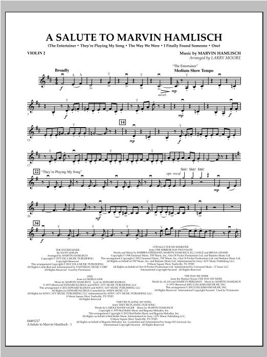 A Salute To Marvin Hamlisch - Violin 2 (Orchestra)