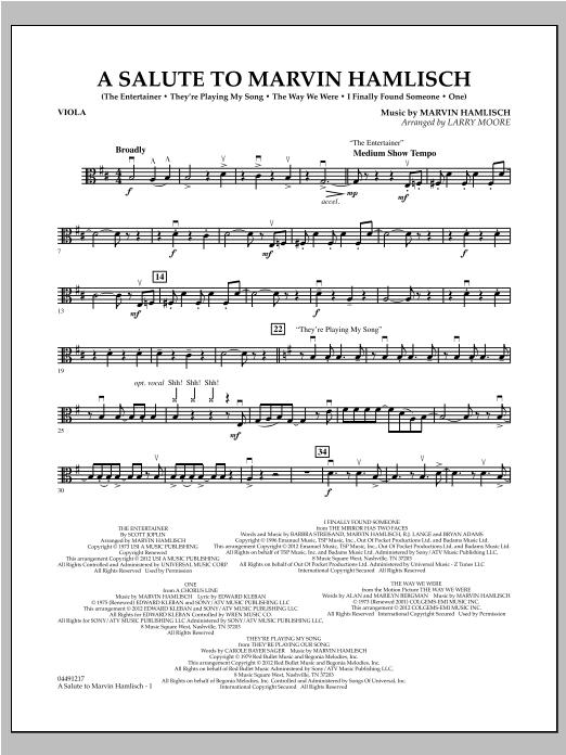 A Salute To Marvin Hamlisch - Viola (Orchestra)
