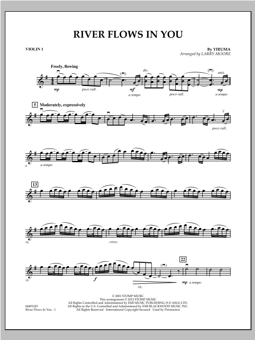 River Flows In You - Violin 1 Sheet Music