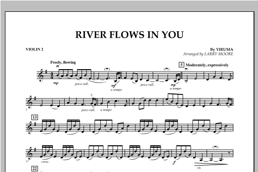 River Flows In You - Violin 2 Sheet Music