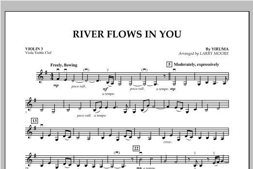 River Flows In You - Violin 3 (Viola Treble Clef) Sheet Music