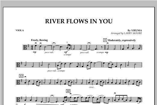 River Flows In You - Viola Sheet Music