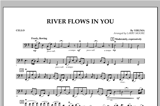 River Flows In You - Cello Sheet Music
