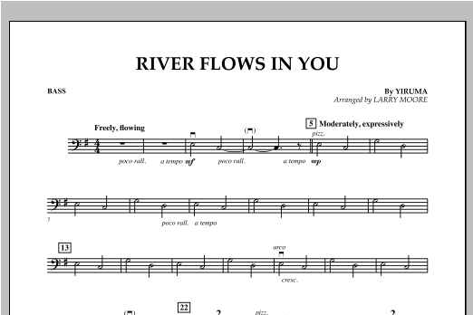 River Flows In You - Bass Sheet Music