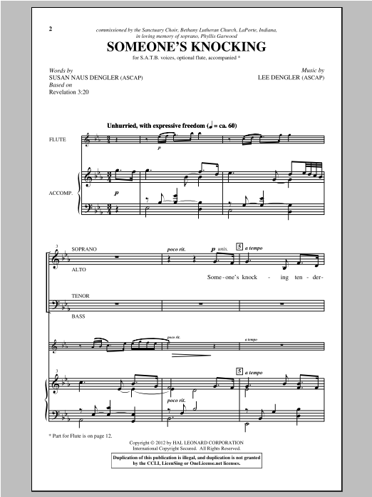 Someone's Knocking (SATB Choir)