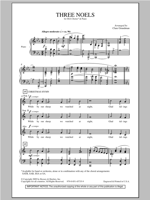 Three Noels Sheet Music