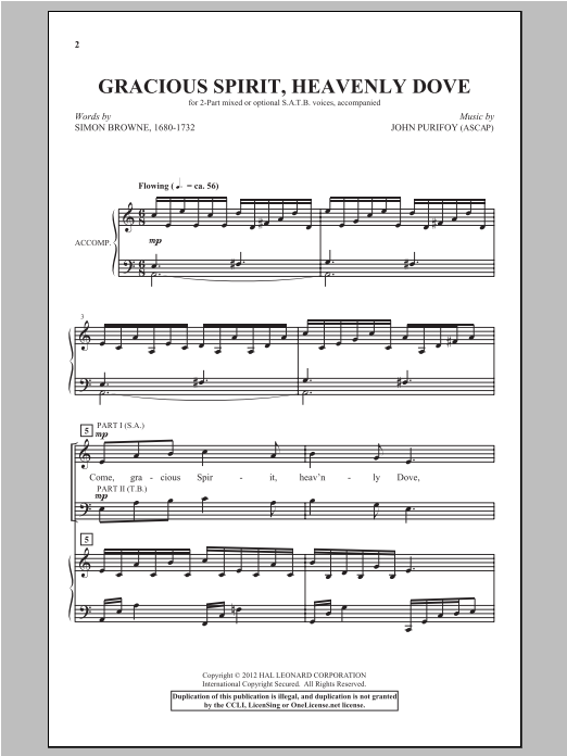 Gracious Spirit, Heavenly Dove Sheet Music