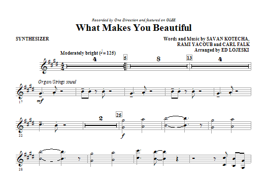 What Makes You Beautiful (complete set of parts) sheet music for orchestra/band (Rhythm Parts) by Ed Lojeski, Carl Falk, Glee Cast, One Direction, Rami and Savan Kotecha. Score Image Preview.