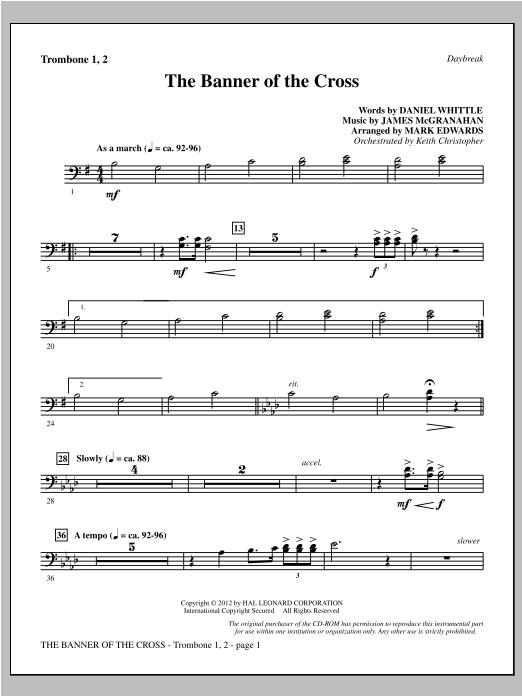 The Banner Of The Cross - Trombone 1 & 2 Sheet Music