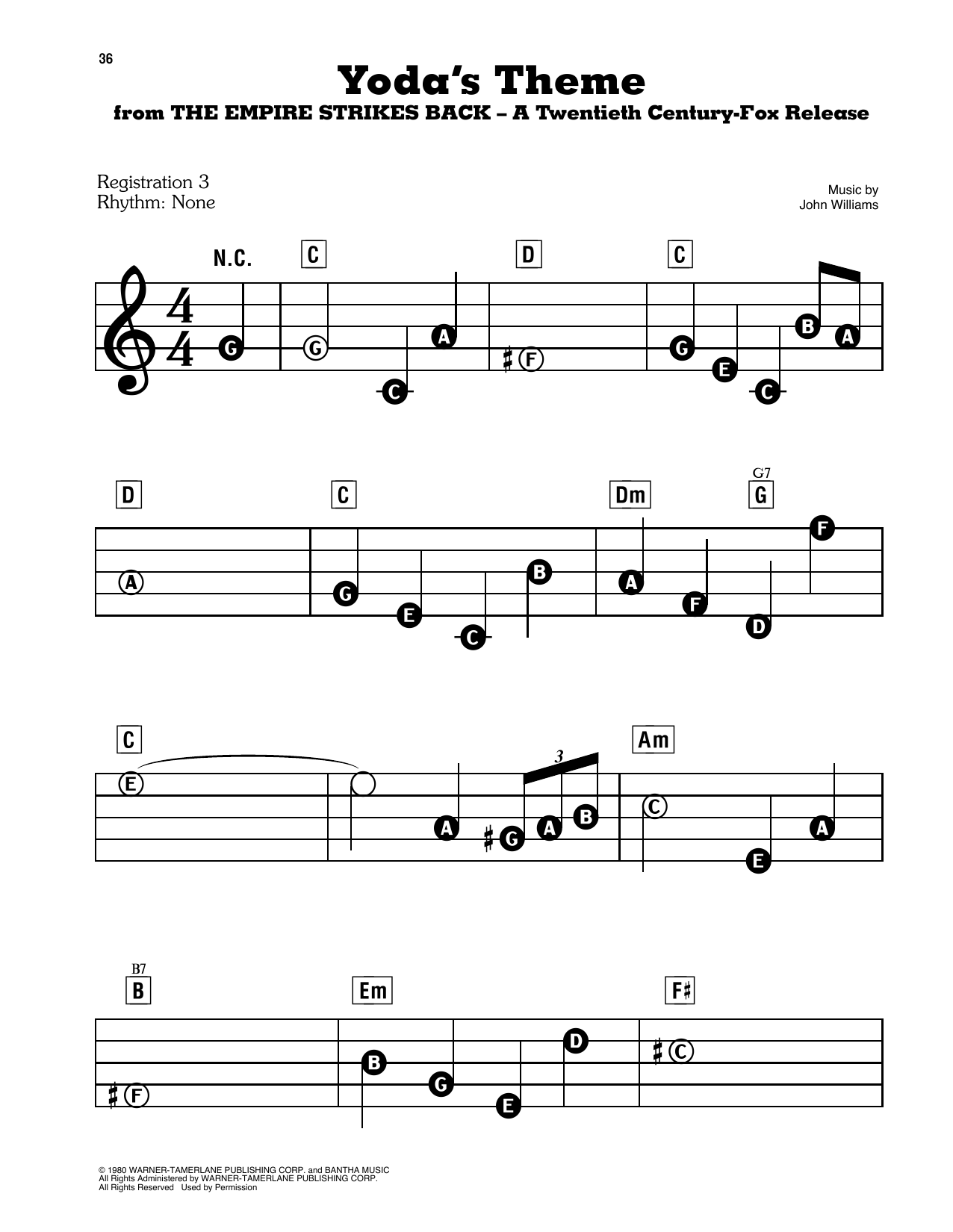 Yoda's Theme (from Star Wars: The Empire Strikes Back) Sheet Music