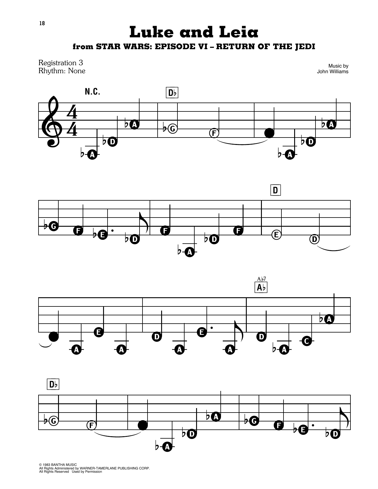 Luke And Leia (from Star Wars: Return of the Jedi) Sheet Music