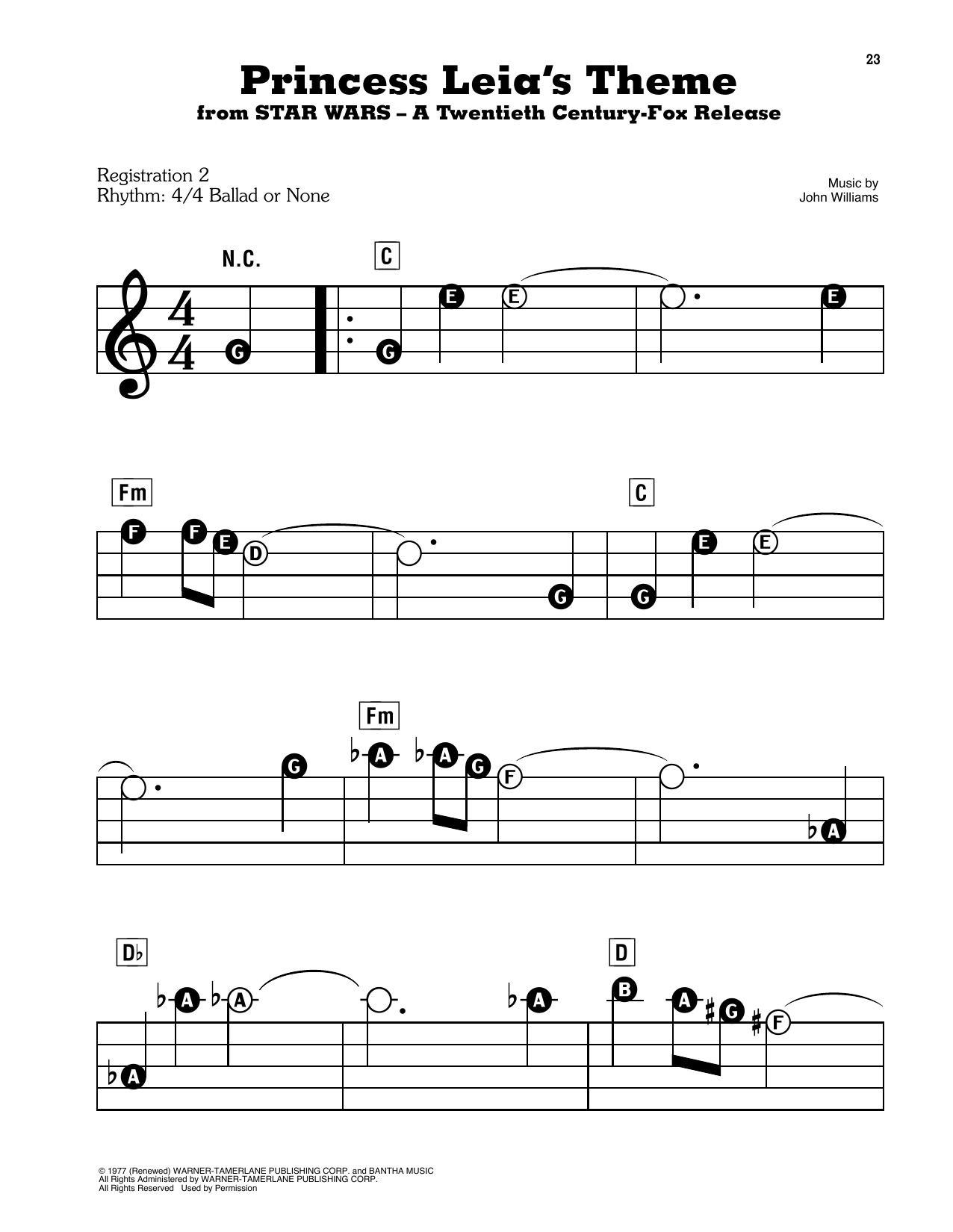 Princess Leia's Theme (from Star Wars: A New Hope) Sheet Music