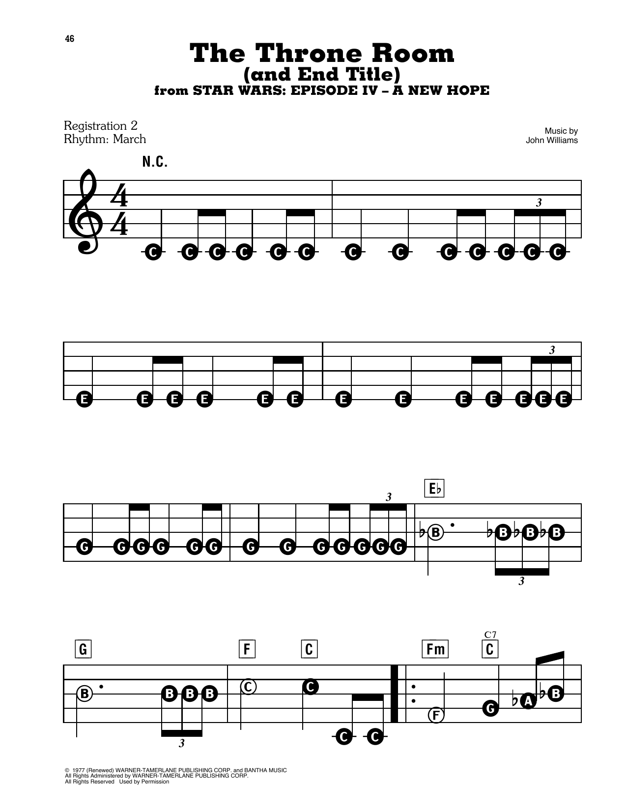Throne Room and Finale (from Star Wars: A New Hope) Sheet Music