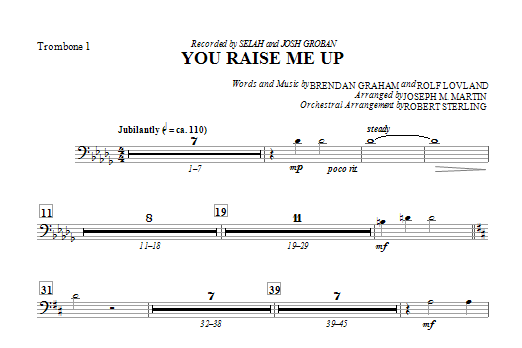 You Raise Me Up - Trombone 1 Sheet Music